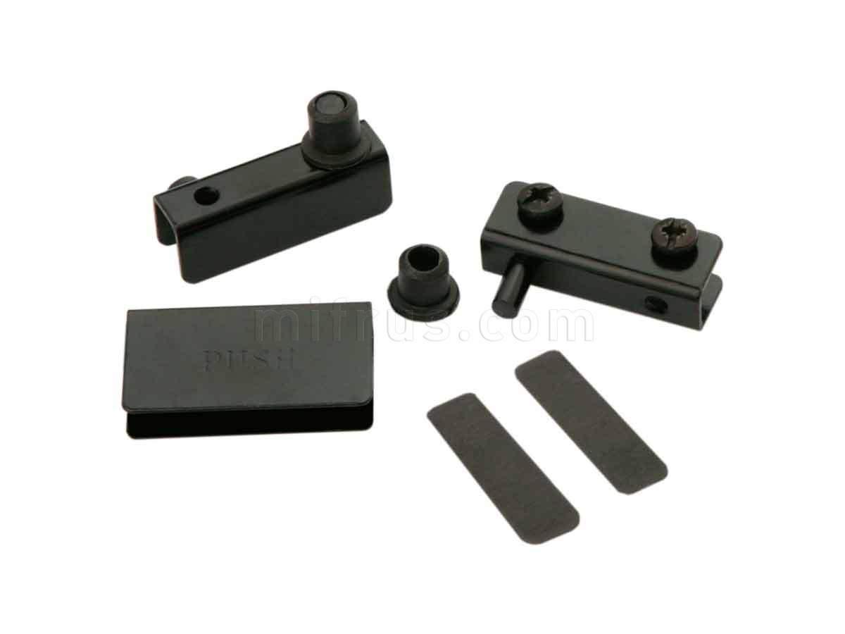 BOYARD Комплект петель HG001/Bl для 1 стеклянного фасада, черный (100)