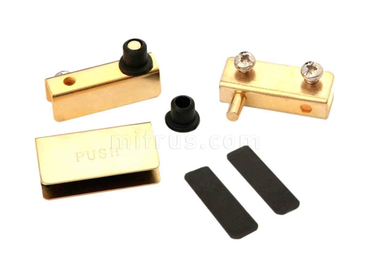 BOYARD Комплект петель HG001/GP для 1 стеклянного фасада, золотой (100)