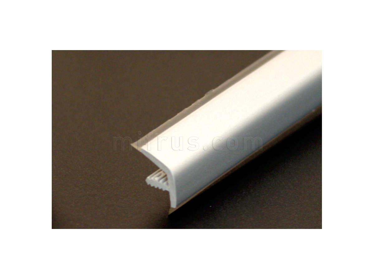 Профиль лицевой PVC.L.1270.T.BIDUR L=2,5 м, ХРОМ МАТОВЫЙ IPO750