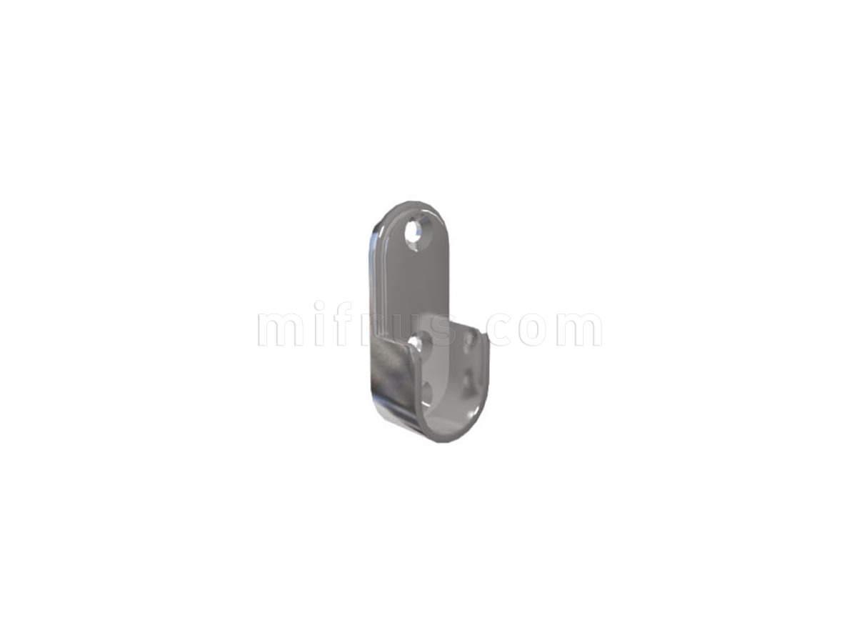 Штангодержатель HA02.NI для овальной штанги 15 х 30 мм (3 боковых отверстия), никель (1000) (НА ВЫСТАВКЕ зал №2 - распродажа)