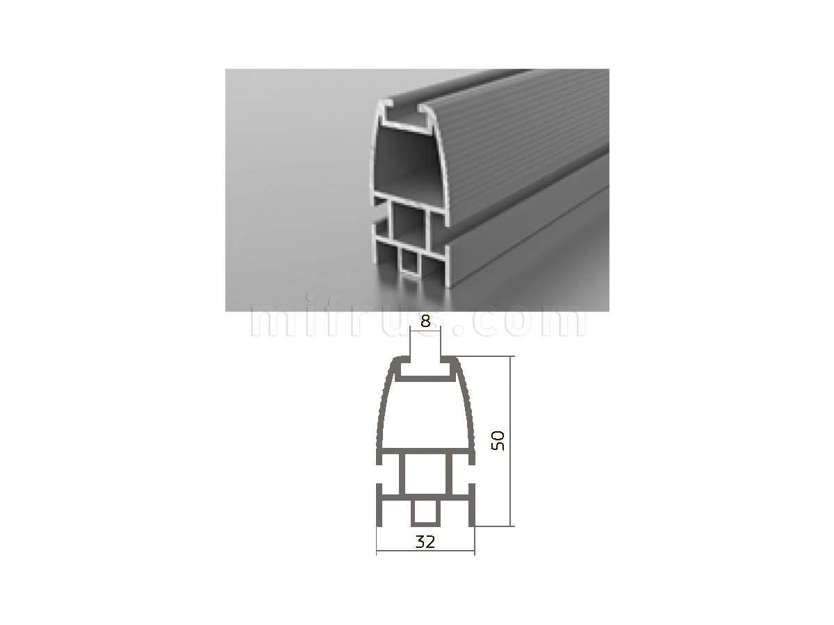Профиль МП1-12 (6м) серебро