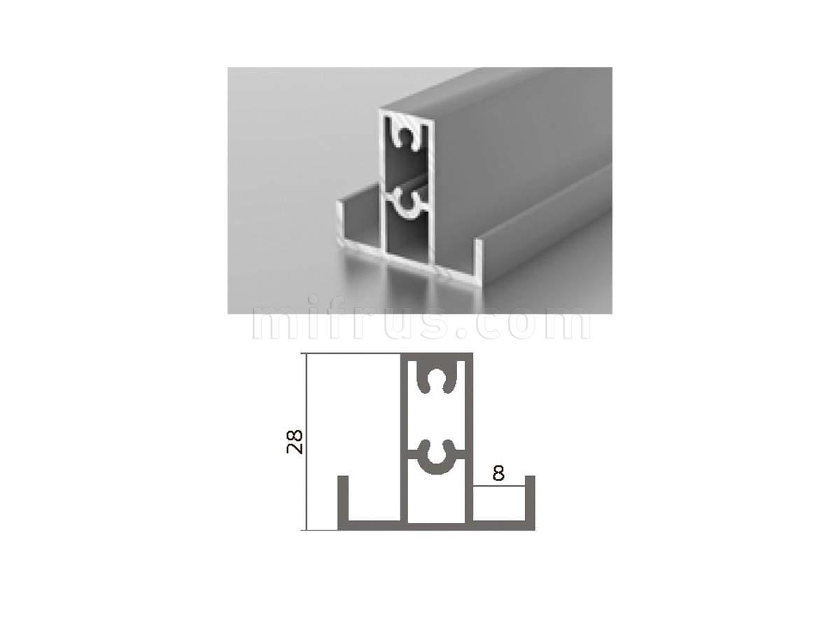 Профиль МП1-13 (6м) серебро
