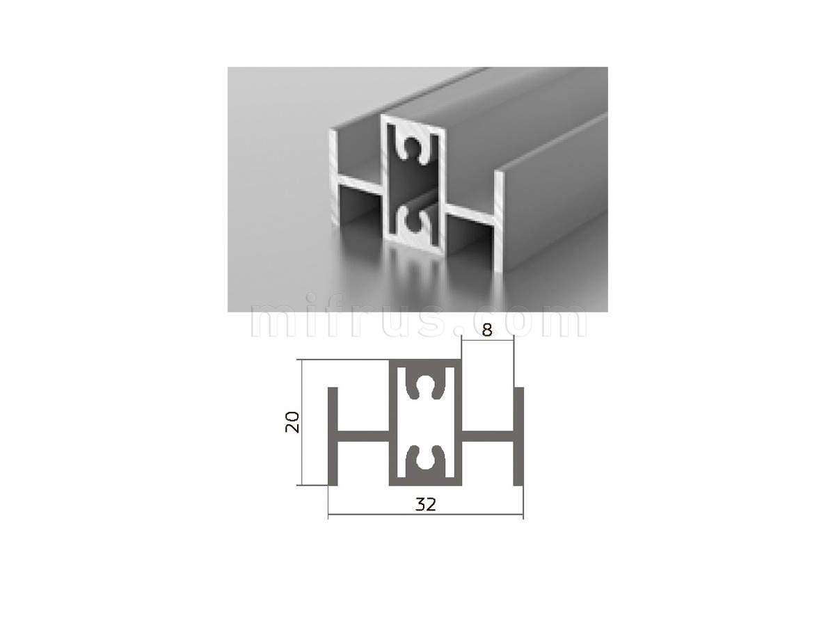 Профиль МП1-14 (6м) серебро