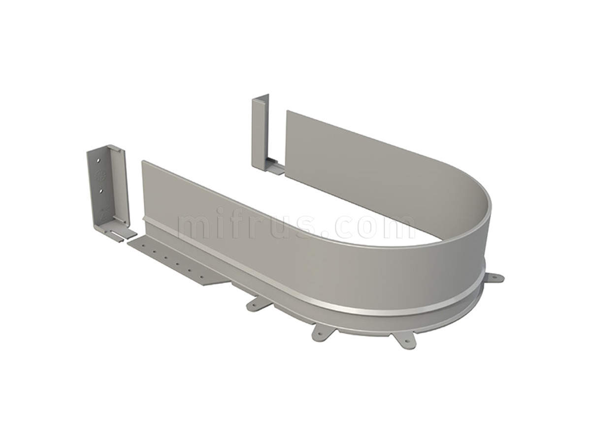 Задняя стенка 3510.1660 - MT радиусная для П-образного ящика, ДСП 16 мм, серая