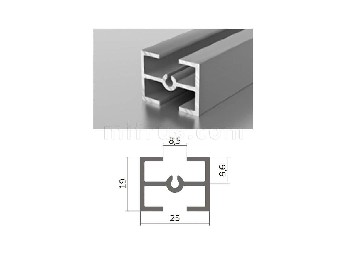 Профиль МП1-10 серебро (6м)