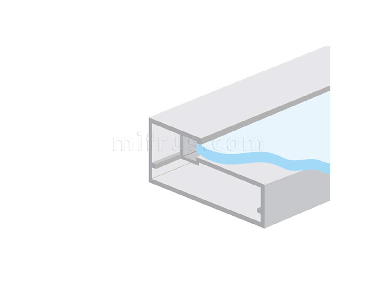 HE.922А Профиль рамочный прямоугольный 45 х 21 мм, алюминий, L=4 м (20)