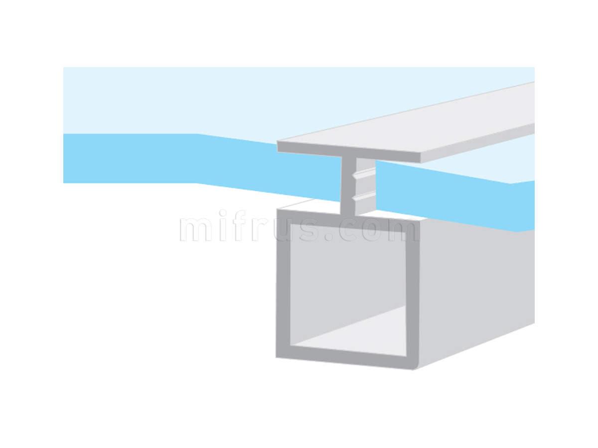 010081.L410.51 Профиль разделительный алюминий, L=4,1м (9)