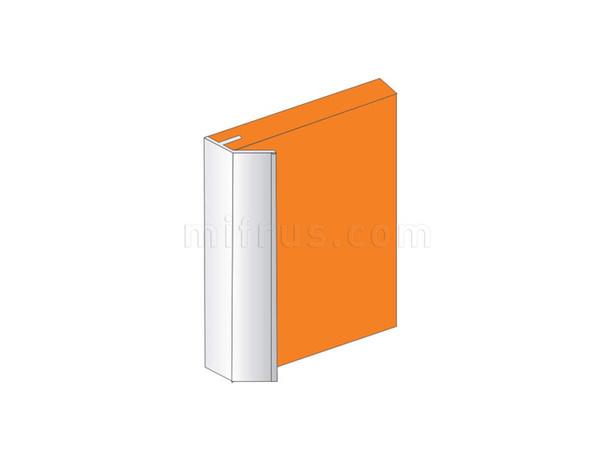 010031.L410.51 Профиль-ручка под пропил для ДСП 18 мм, алюминий, L=4 м (12)