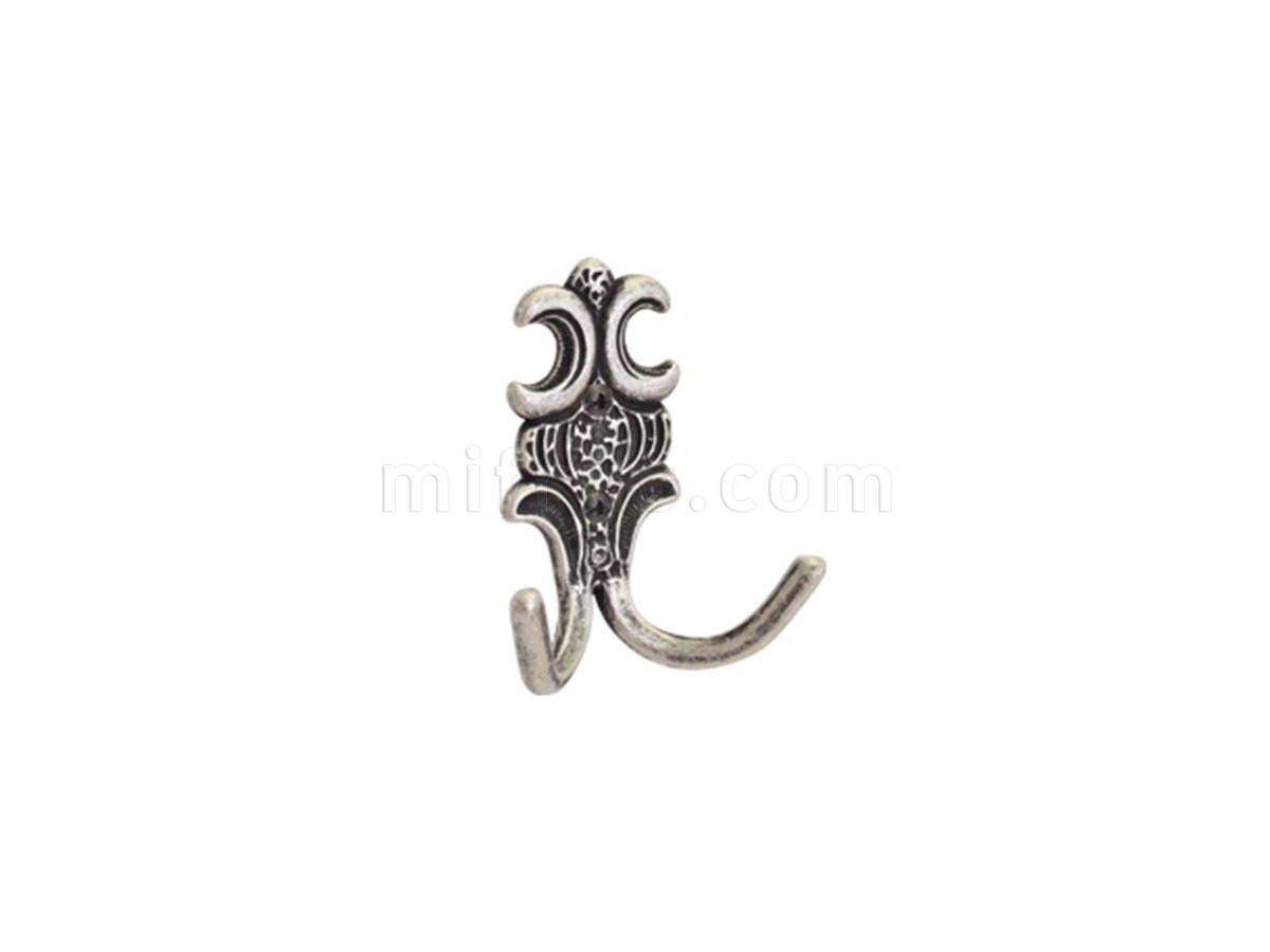 Крючок 11.404.A17N (MC 11.404.A17N) (82х100 мм), серебро античное