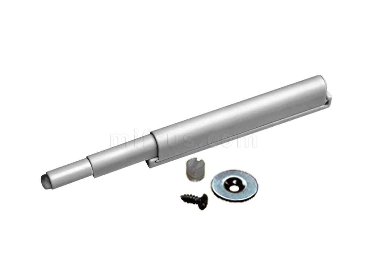 BOYARD Амортизатор AMF11/GR с толкателем серый, с магнитом, скрытое крепление к корпусу (100)