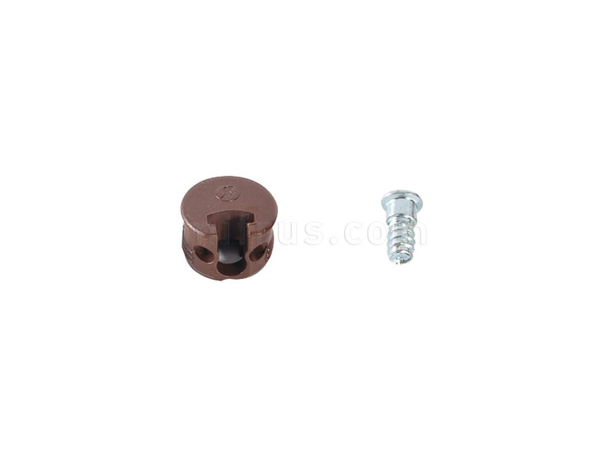 SAMET Крепление для полок Afix - корпус+дюбель, коричневый (2000)