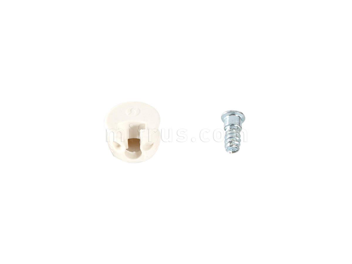 SAMET Крепление для полок Afix - корпус+дюбель, белый (2000)