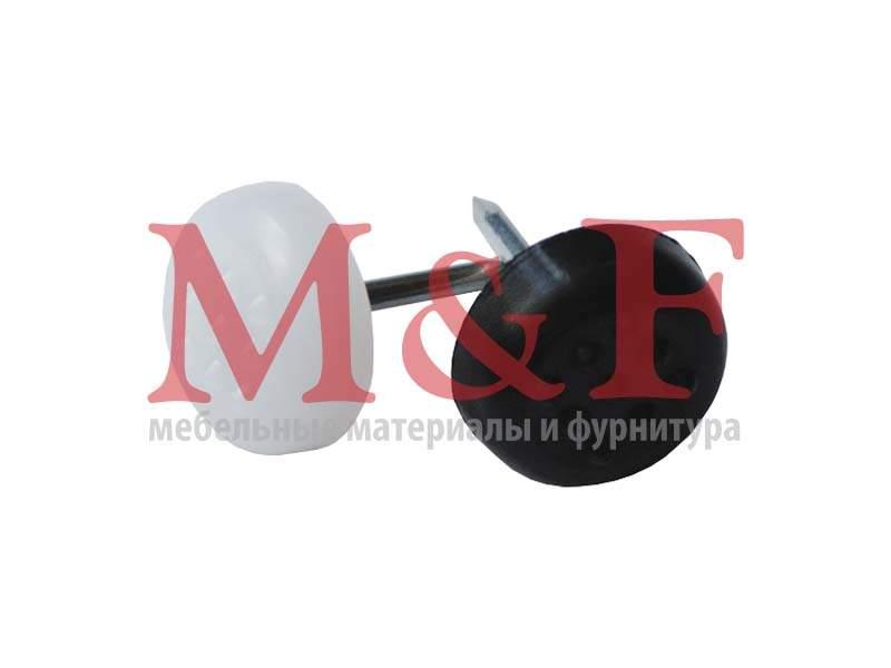 Подпятник D=14 мм с гвоздем белый (1000)