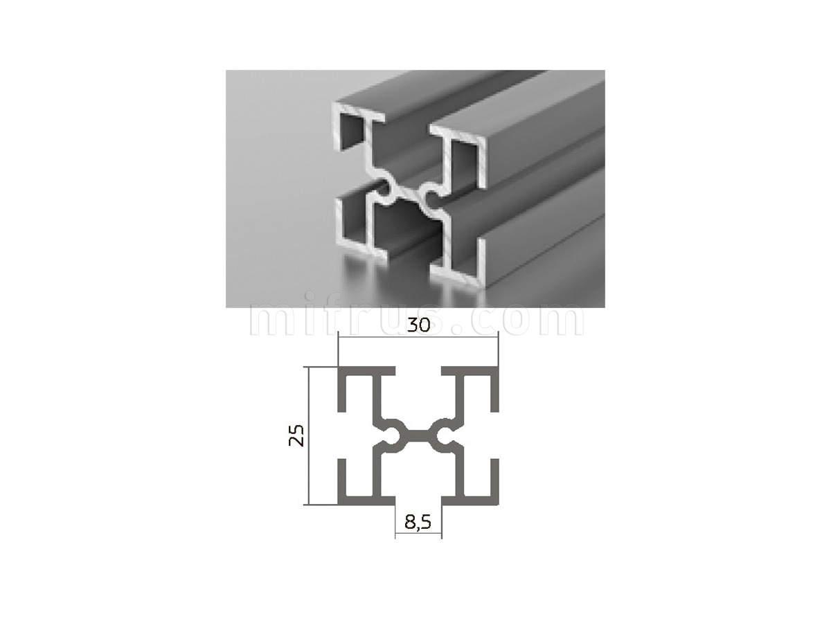 Профиль МП1-09 серебро (6м)