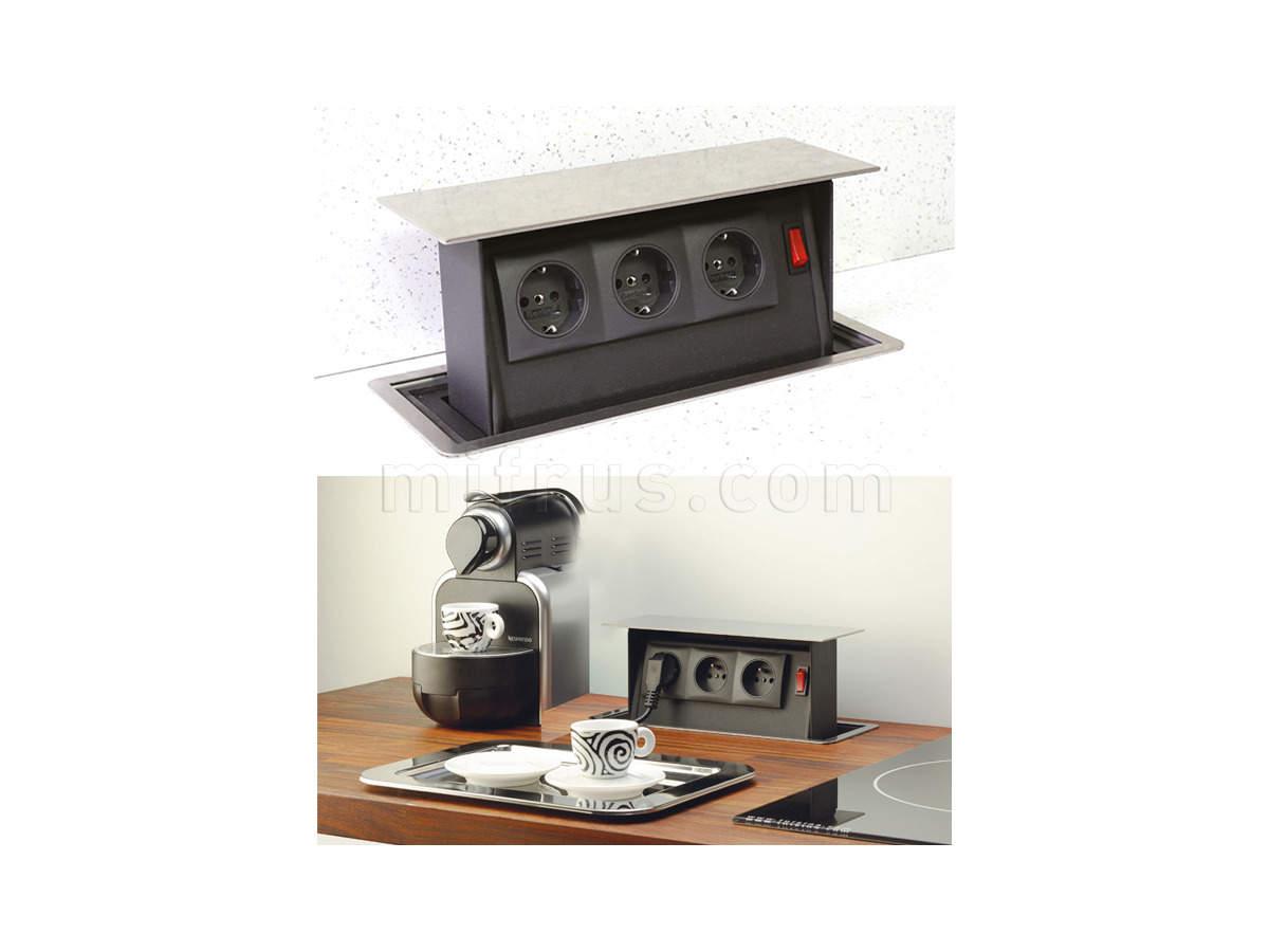 SB-PS01SS.EUD [SB-PS01SS.EU] Механизм POWER BOX с 3 розетками