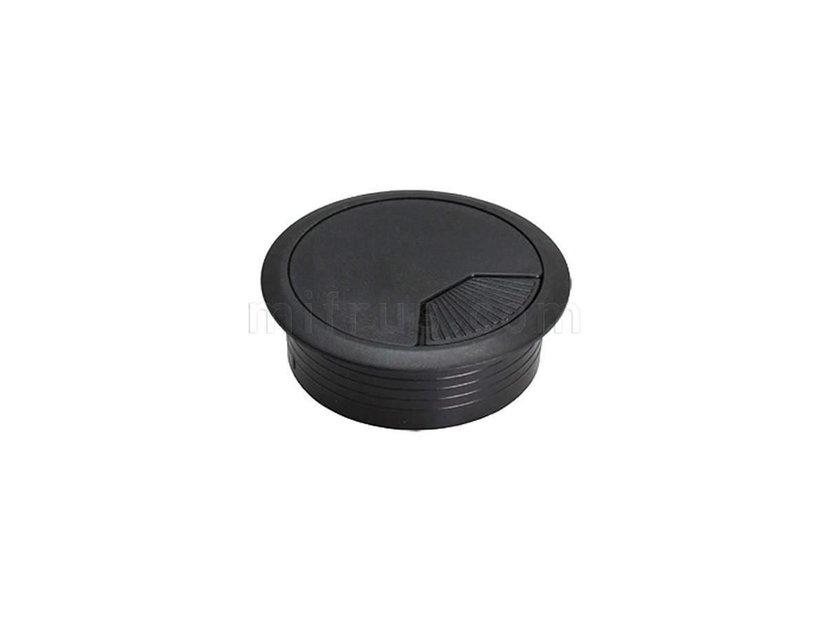 HW.007.008 Заглушка кабель-канал, d=60 мм, черный