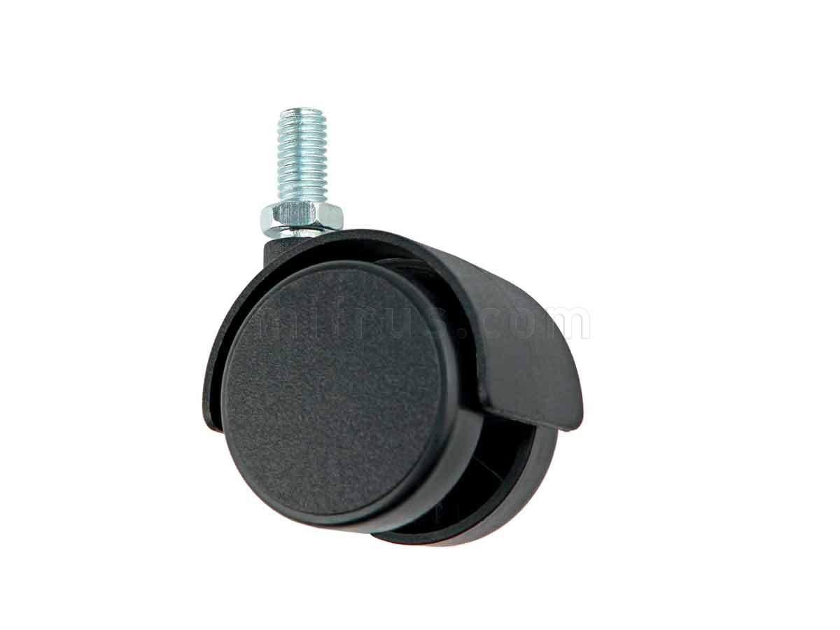BOYARD Мебельное колесо d=40 без стопора N111BL/BL.3 со штифтом М8 (40/240)