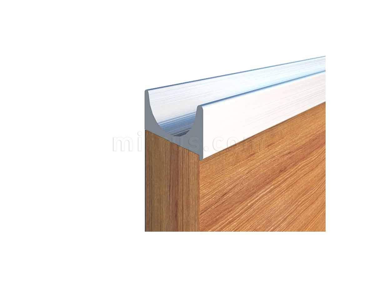 900451.67.00 5000.0 Профиль-ручка под пропил, L=5 м, алюминий, отделка сталь нержавеющая (100)