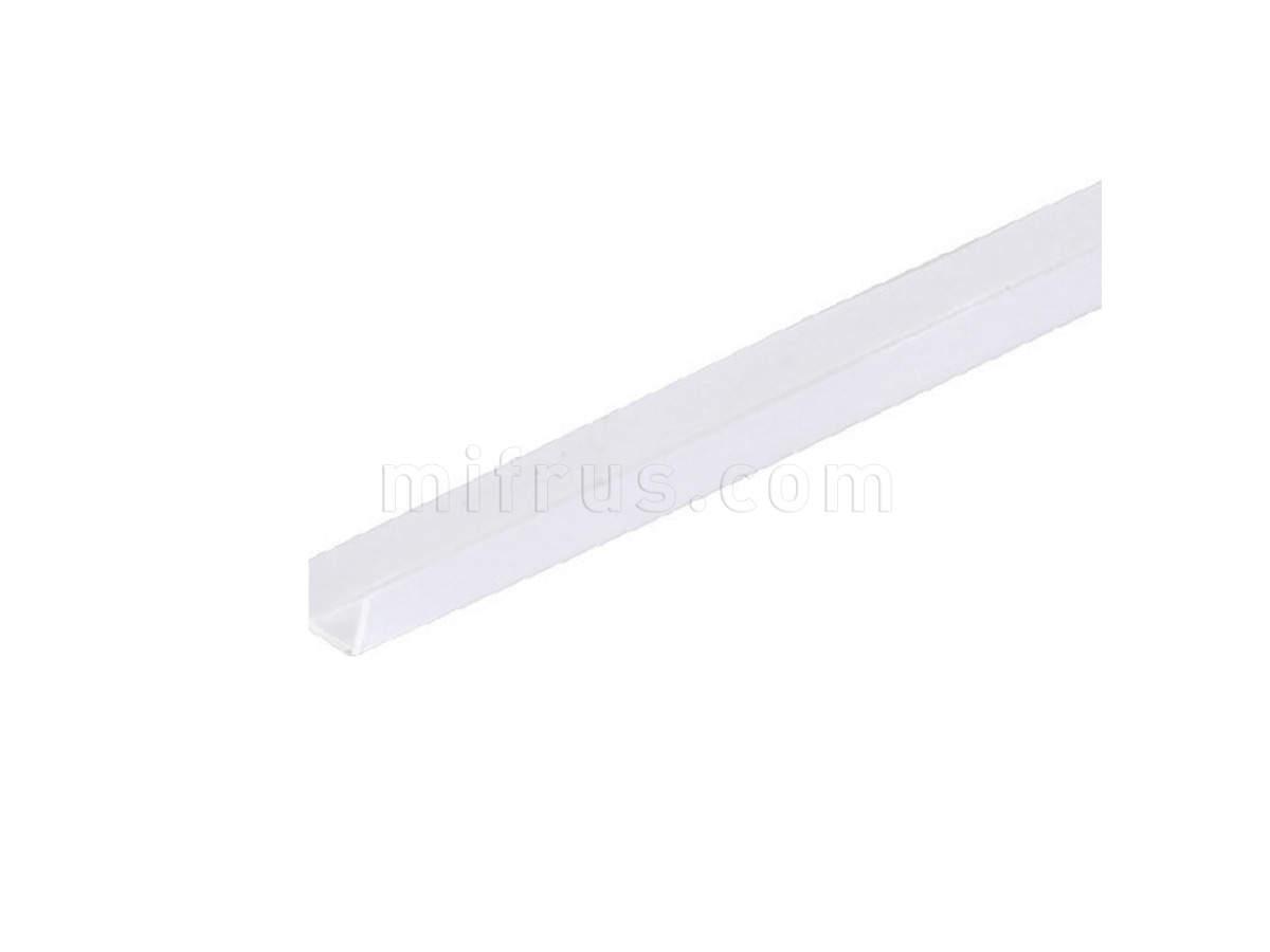 Уплотнитель пластиковый для стекла 4мм, L=4000мм, отделка транспарент V0314R102