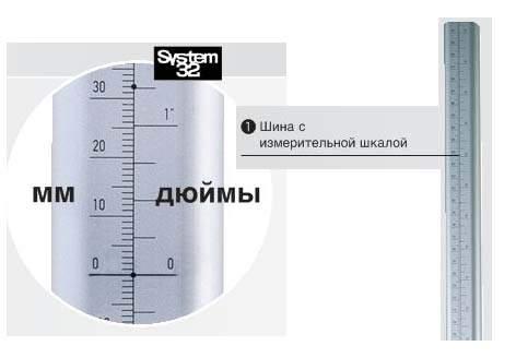 Шина Accura с измерительной шкалой, алюминий, длина 1000 мм (1)