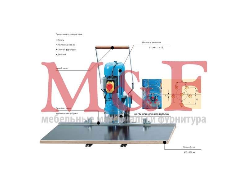 Станок Blue Max mini тип 2/6 (230 В/50 Гц/1 фаза) с 50 петлями Sensys (1)