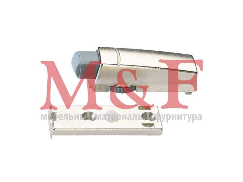 Демпфер Silent System для прикручивания для накладной двери, цинк, никелиров. [60579] (200)