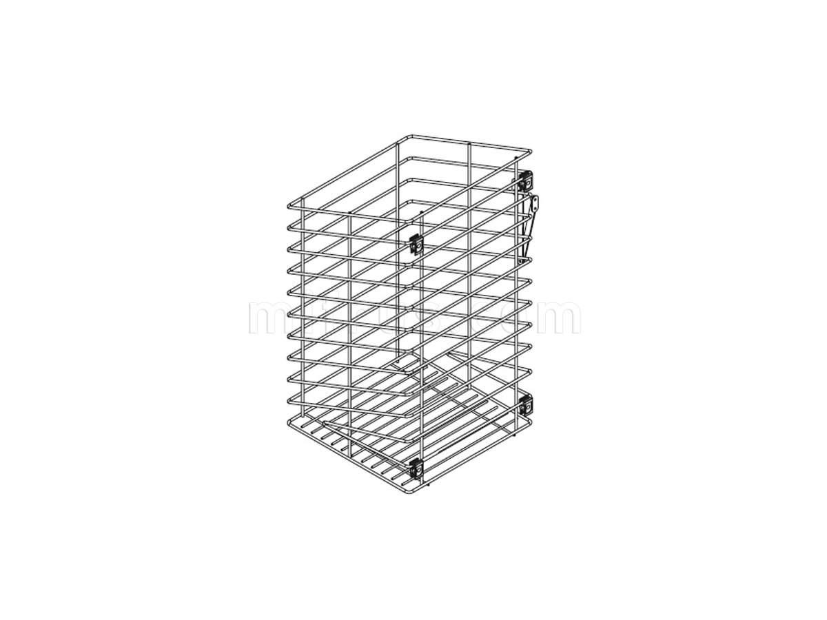 Корзина для белья в базу 300 откидная, отделка хром 125/30-30C