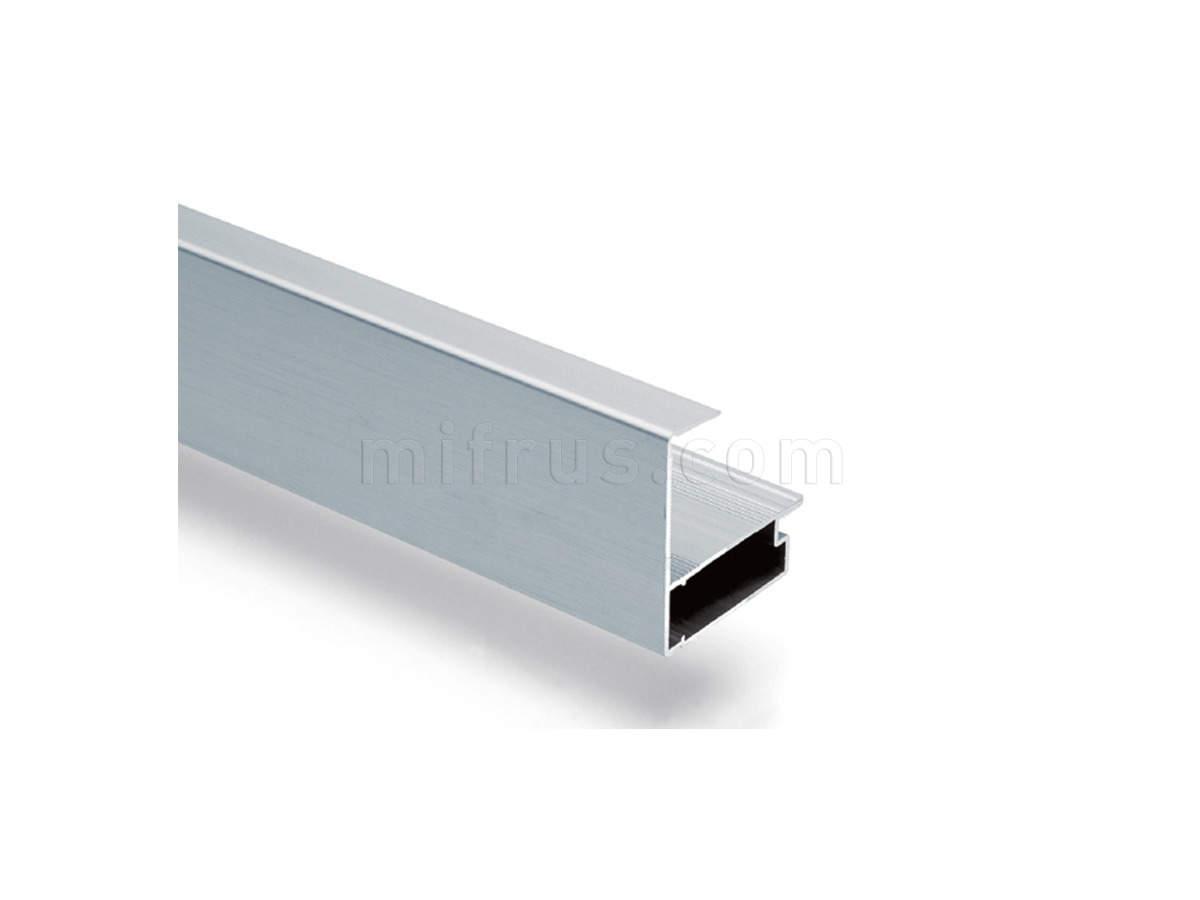 80B8.F4060PZ.07 Профиль фронтальный Н=61 мм для столешниц 40 мм, алюминий L=4200 мм (6)