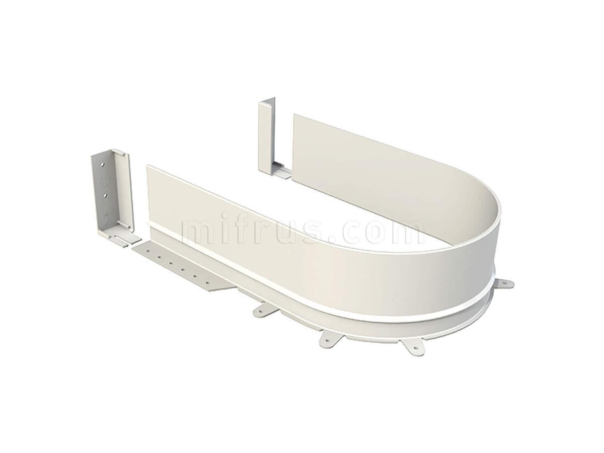 Задняя стенка 3510.1660 - BI радиусная для П-образного ящика ДСП 16 мм, белая