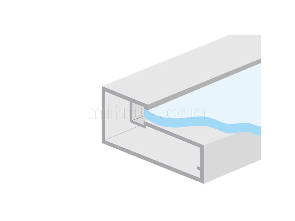 HE.922В-45 Профиль рамочный прямоугольный 45 х 21 мм, алюминий, L=4 м (20)