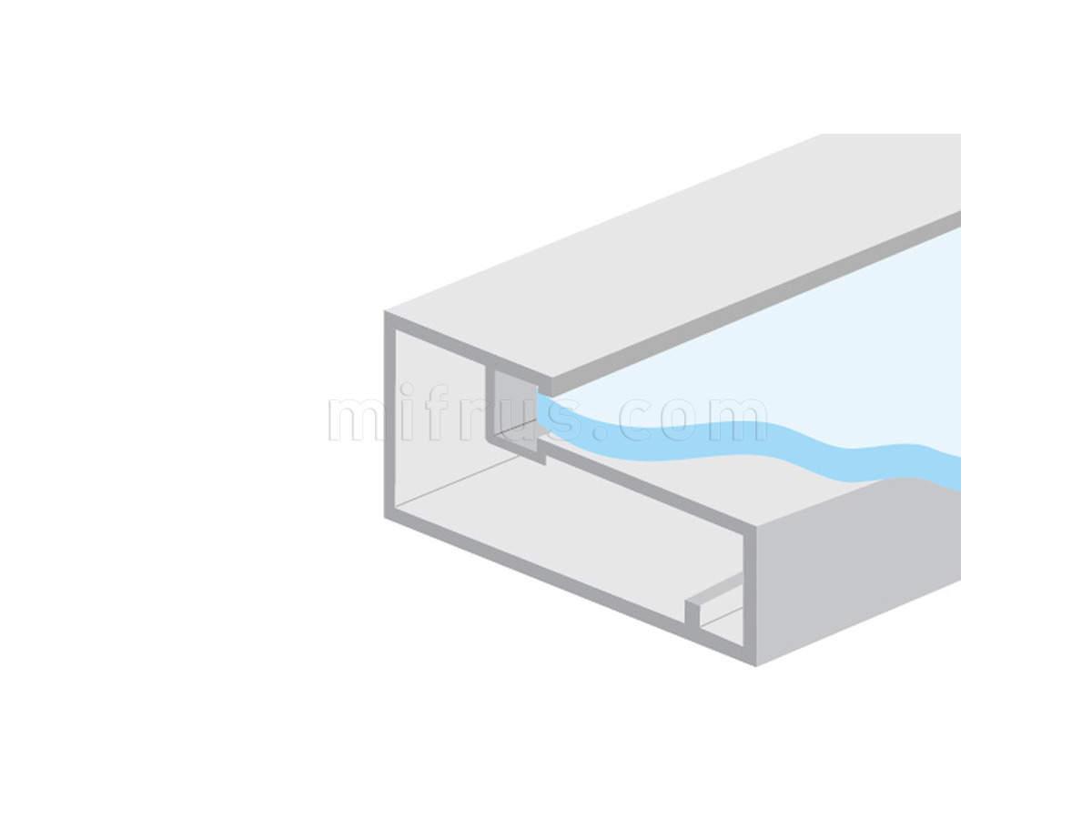 HE.922В-50 Профиль рамочный прямоугольный 50 х 21 мм, алюминий, L=4 м (20)