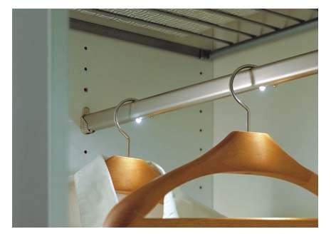 Штанга Lite Inside, длина 506-656 мм, три светодиода, никелированная, матовая ВЫВЕЛИ (SALE) 1