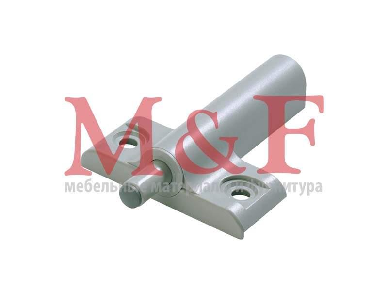 Демпфер Silent Sistem для прикручивания для накладных дверей, Т-образный, пластмасса серая (50)