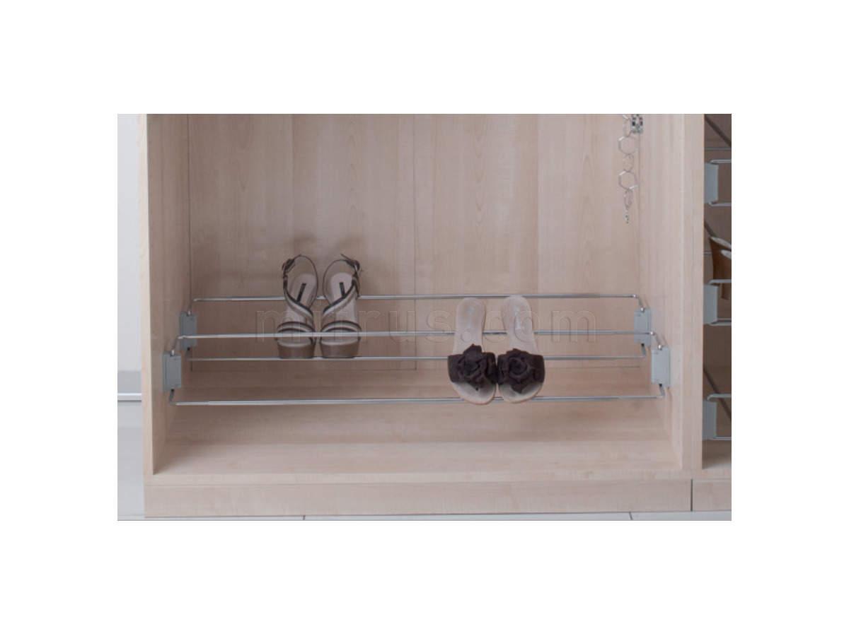 Полка для обуви 480-830 мм (боковое крепление) арт.115/A (6) (НА ВЫСТАВКЕ зал №2 - распродажа)