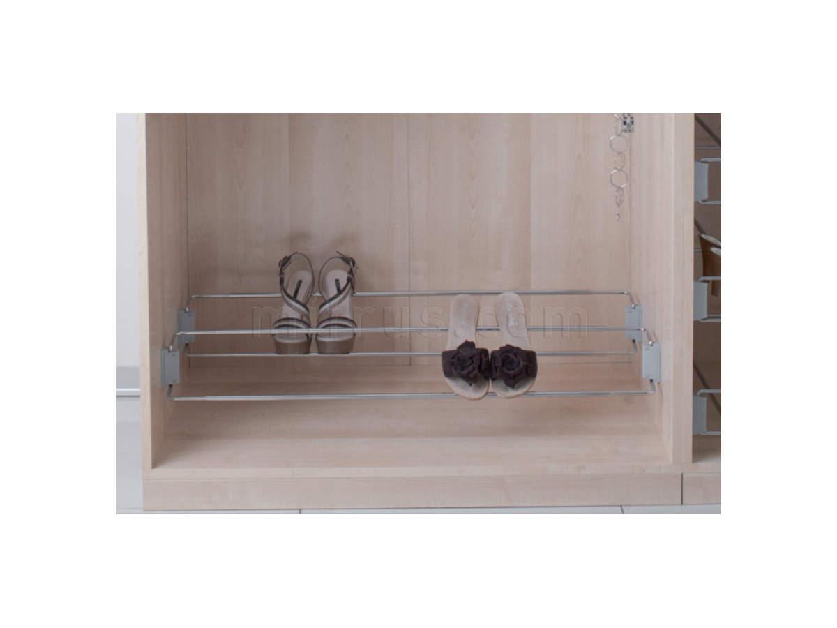 Полка для обуви 830-1130мм (боковое крепление) арт.116/А