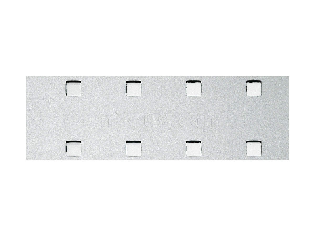 Декоративный пластик Q-10-40-40 Silver PF met с клеем, 2600х1000х1mm (шт.)