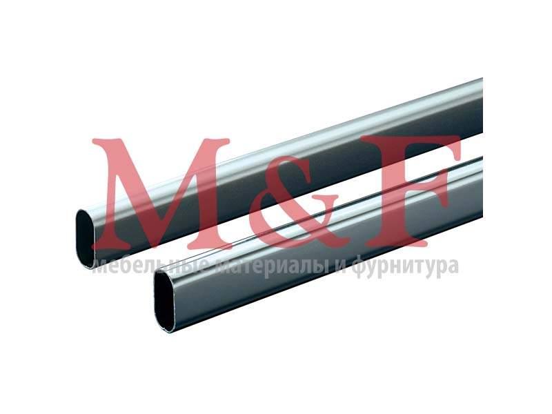 Гардеробная штанга овальная 30х15х0,7х3000 мм, сталь никелированная матовая (10)