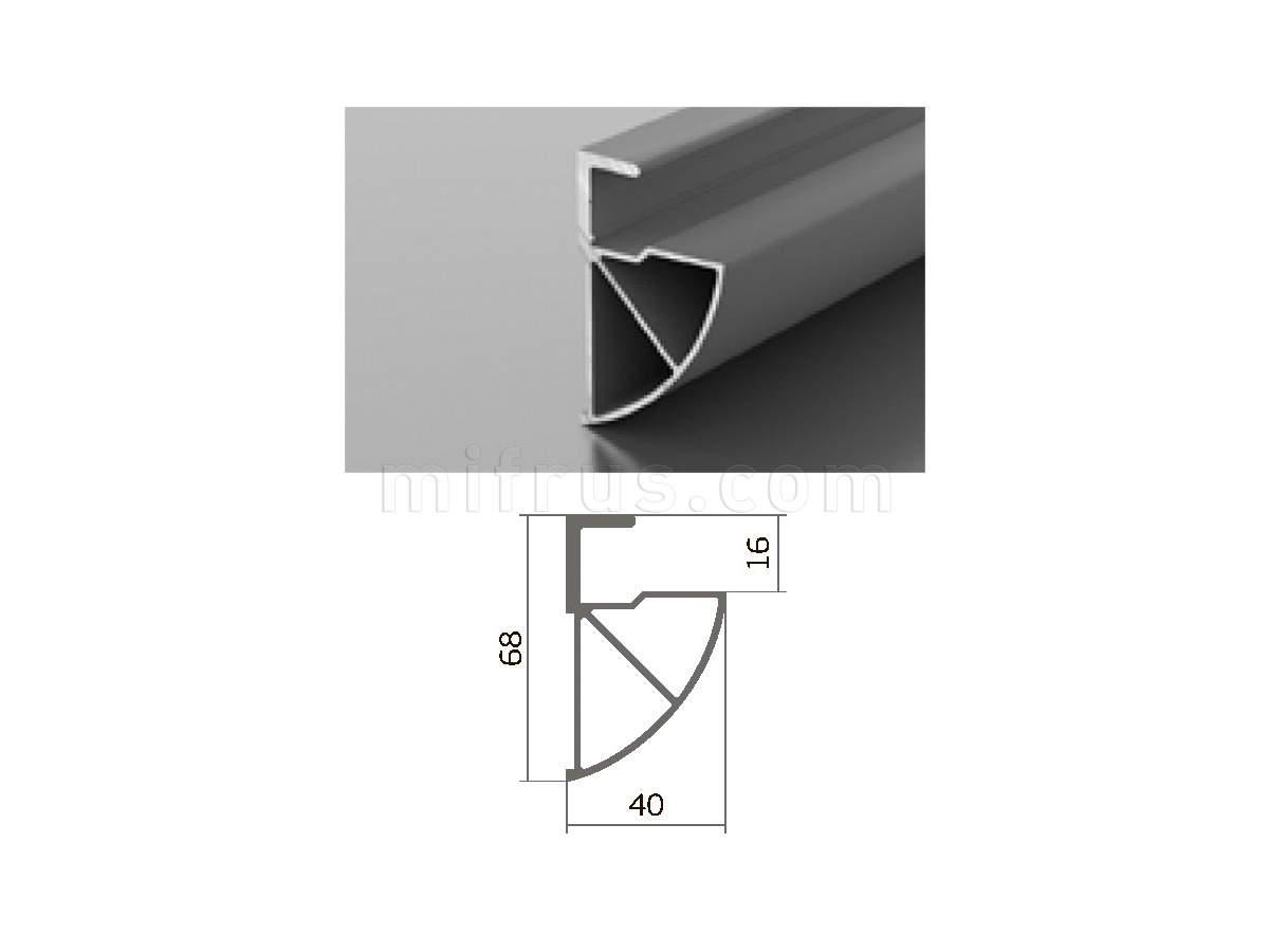 Профиль L 10-01 (6м) серебро