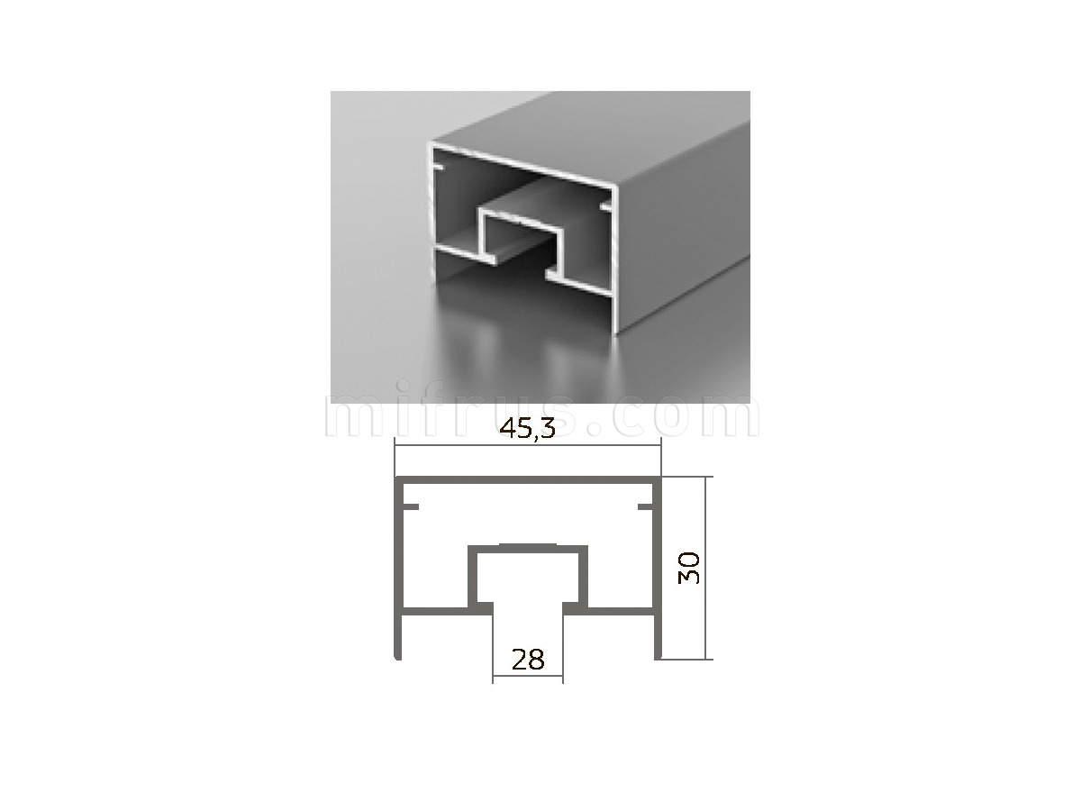 Профиль M 1-01 (6м) серебро