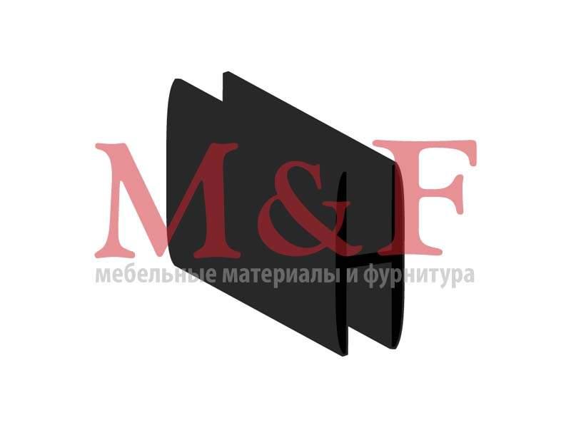 Профиль соединит. для ДВП 2м черный