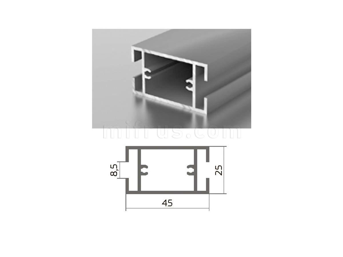 Профиль МП1-03 серебро (6м)