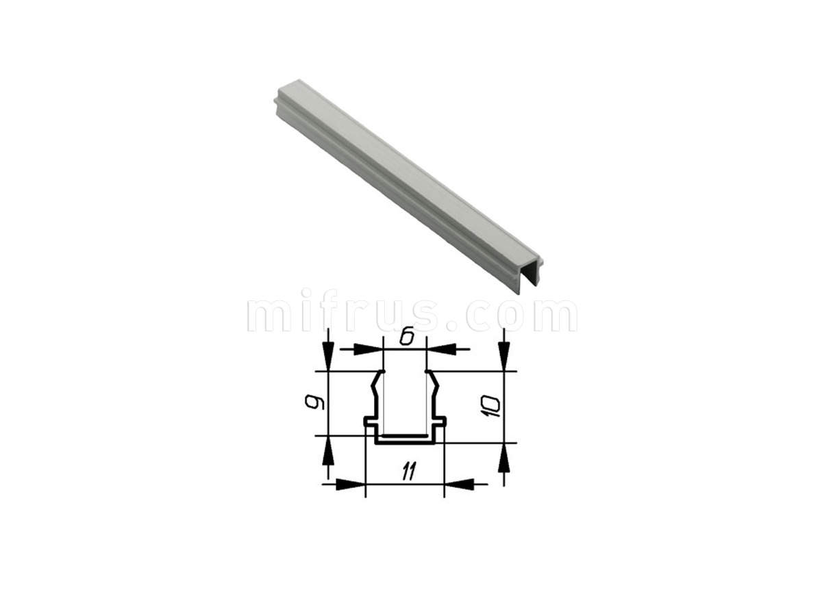 Профиль МП1-06 серебро (6м)