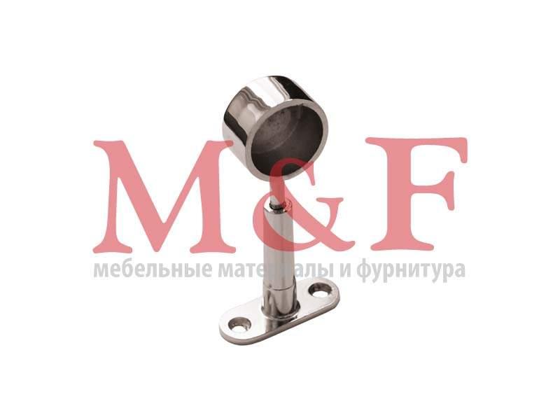 Держатель трубы дистанционный регулируемый закрытый d-25мм хром