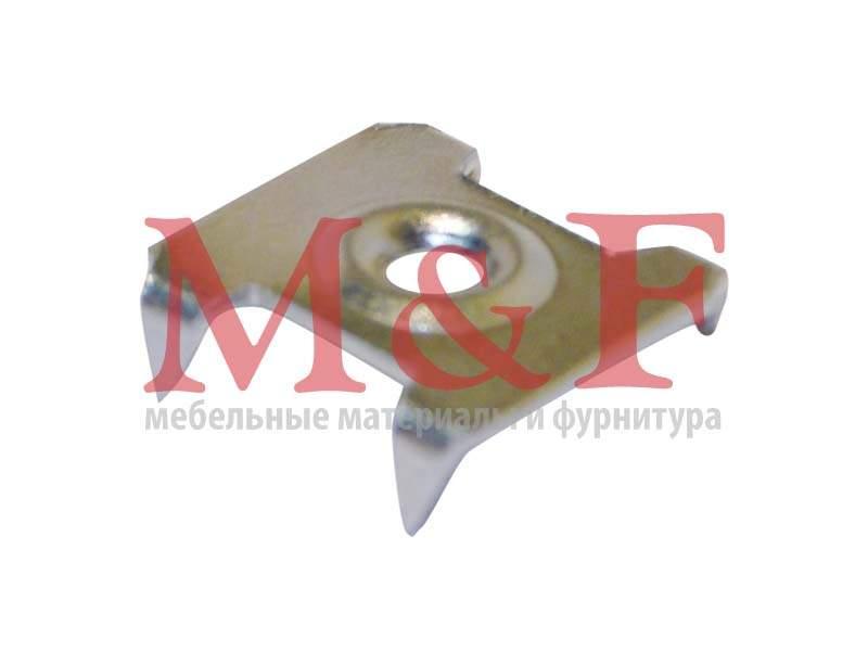 Скрепка д/крепления задних стенок из ДВП, никель (8000)