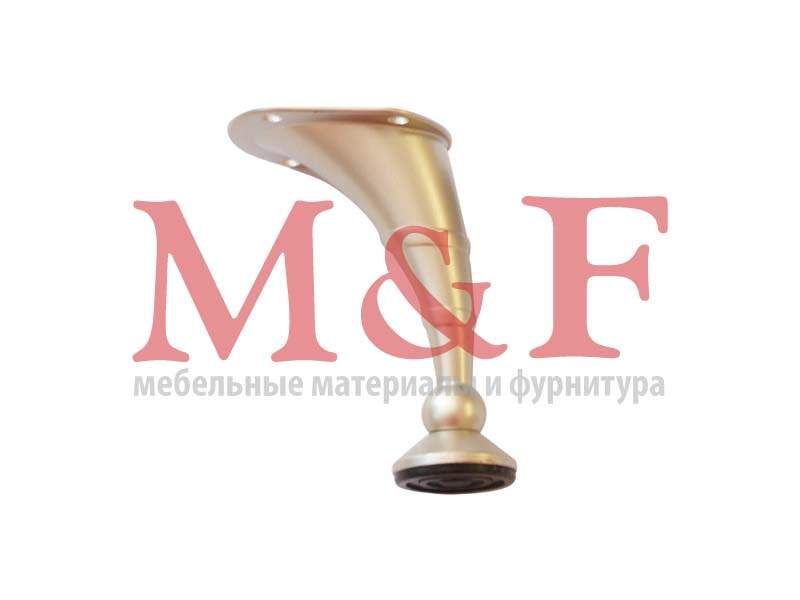 Опора изогнутая Ozkar 101-02 Н=100 мм cатин (SALE)