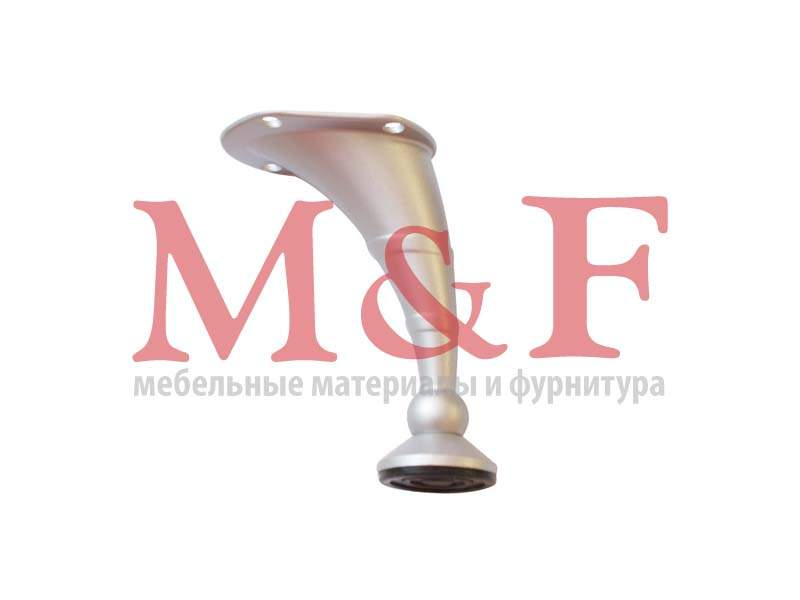 Опора изогнутая Ozkar 101-03 Н=100 мм мат.хром (SALE)