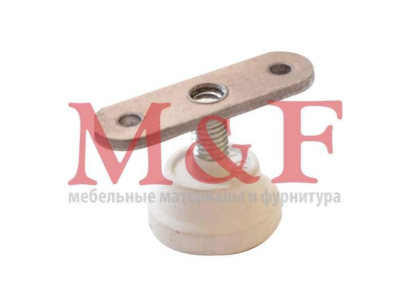 Ножка регулир. Бинго М8 d=29мм белая (SALE)