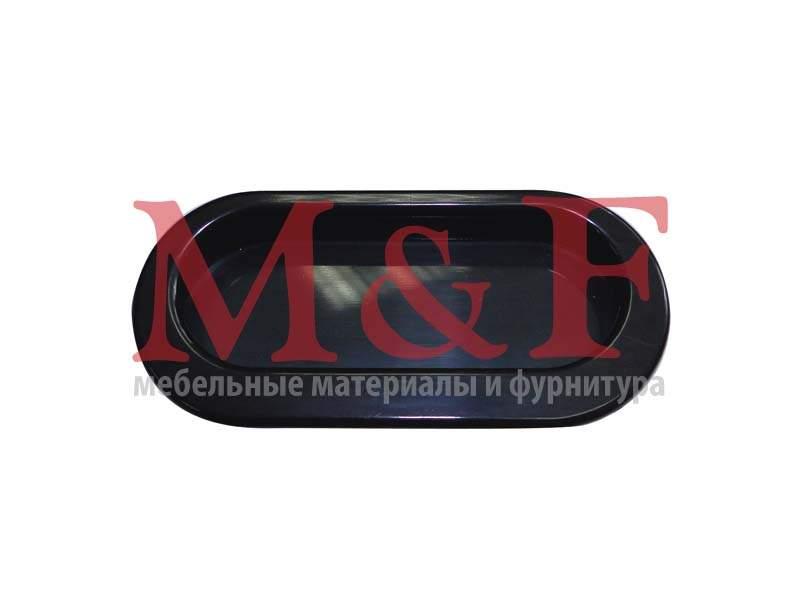 Ручка врезная ОСКАР 5144/011 овал. черный (20)