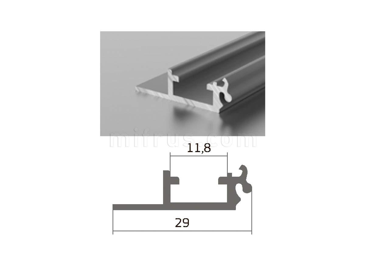 Профиль D1-01 серебро (6м)