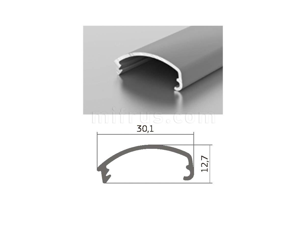 Профиль D1-02 серебро (6м)